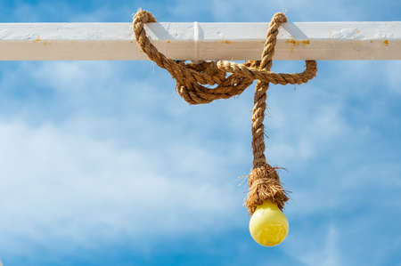 Yellow bulb with rope