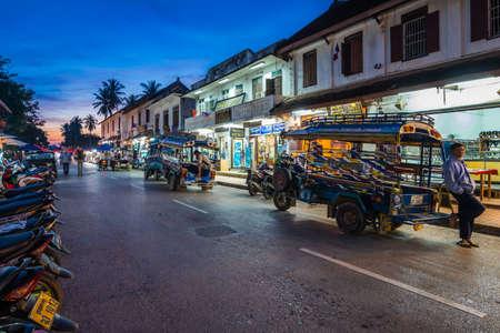 A famous walking street , Luang Prabang, Laos. Editorial