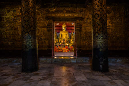 Approach of a historical temple in the world heritage site, Luang Prabang, Laos. Editorial