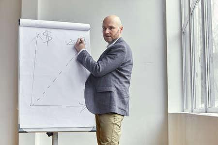 ハゲの実業家「2018」の描画ボード上の日付