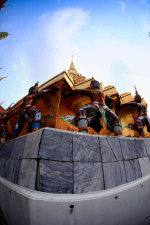 kaew: Measure Wat Phra Kaew Thailand Stock Photo