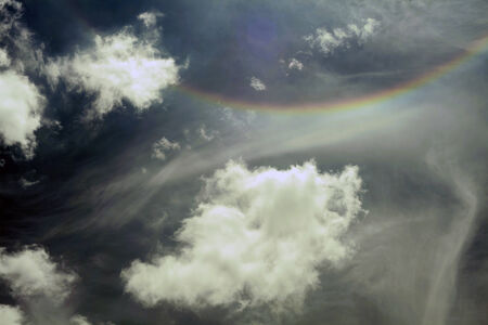 clouds and rainbow Stock Photo - 28608995