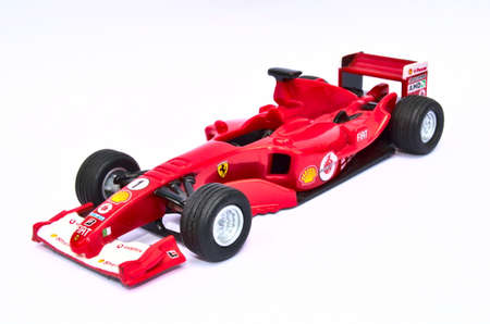 ferrari: Ferrari F2005 Model Toy Car Editorial