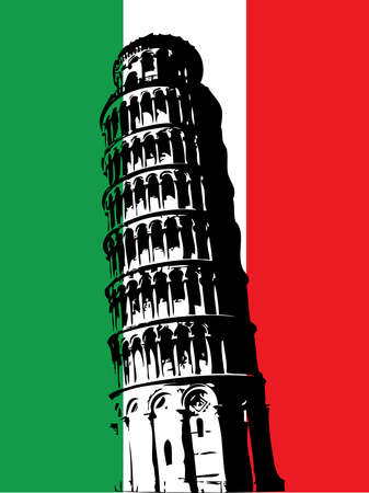 pisa tower: Italy Illustration