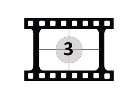Film CountDown number 3 Vector