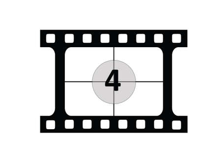 Film CountDown number 4 Vector