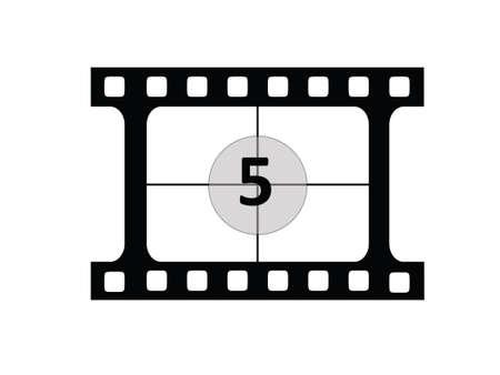 Film CountDown number 5 Illustration