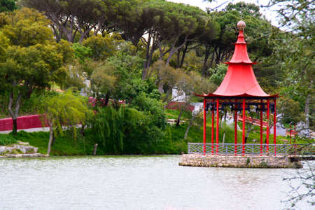 garden of eden: A place of peace. Stock Photo