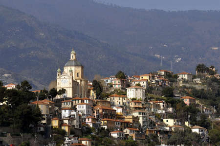 sanremo: Sanremo is on the Mediterranean coast of western Liguria in north-western Italy. Its known for being a tourist destination on the Italian Riviera Stock Photo