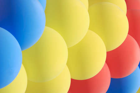 pressurized: Garland of a set of multicolored balloons