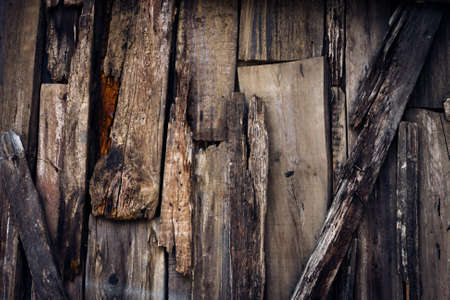 Old wooden planks with metal nails background photo