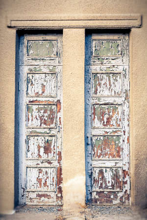 The Old Door with Cracked Paint Background