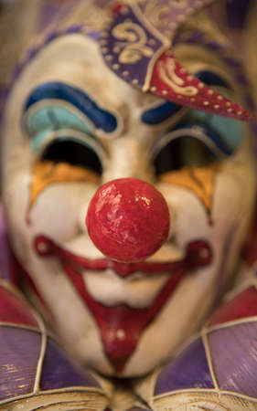 Clown Mask close up background.