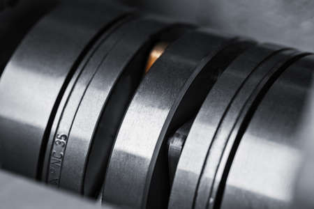 punch press: Sheet metalworking cnc turret punch press part Stock Photo