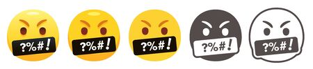 Cursing emoji Vettoriali