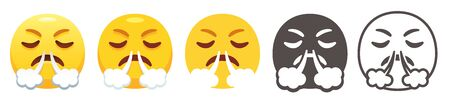 Angry huffing emoji