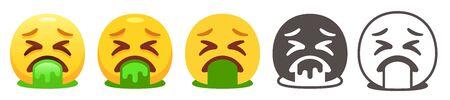 Vomiting emoji Stock Illustratie