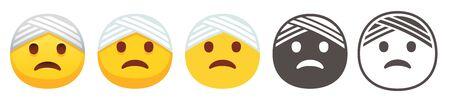 Bandaged head emoji Illustration