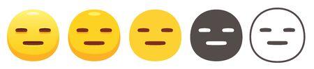 Straight expressionless emoji 矢量图像