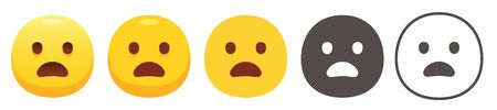 Yawning emoji
