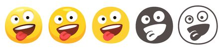 Zany emoji 向量圖像