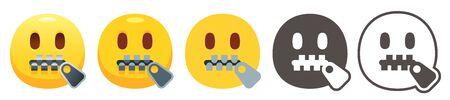 Zipper-mouth emoji