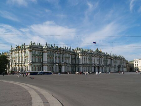the Hermitage Museum is in summer   Stock Photo