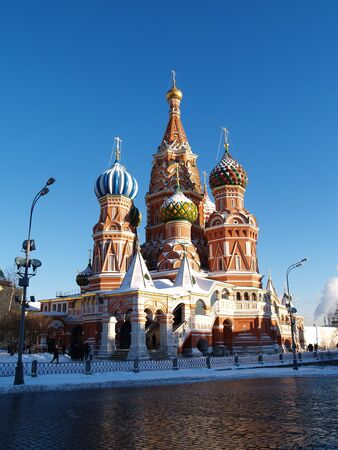 St. Basils Cathedral  is in winter
