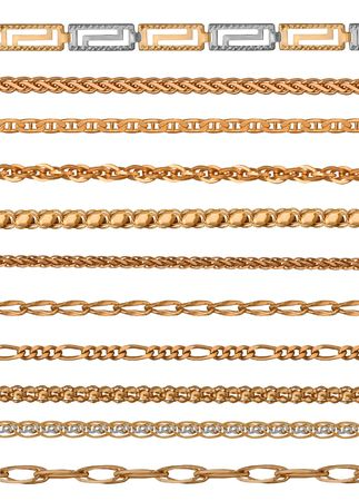 interweaving: interweaving of a gold bracelet