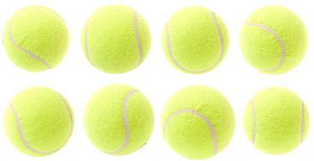 tennis balls isolated on white Stock Photo