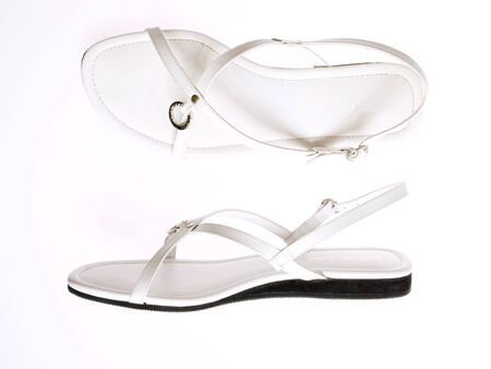 leathern: isolated shoes on white Stock Photo