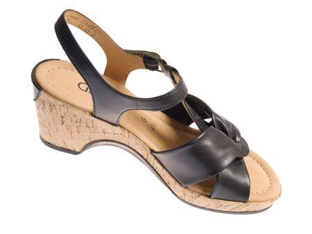 leathern: isolated shoe on white Stock Photo