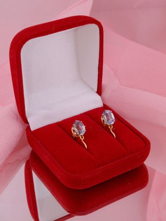 the earrings with alexandrites
