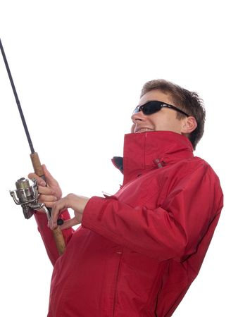 isolated fisherman