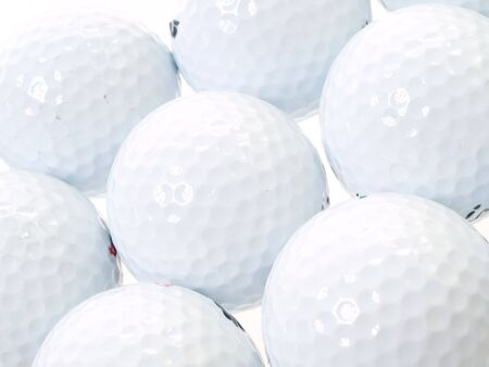 golf balls as a background Stock Photo
