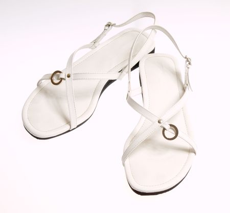 isolated shoes on white Stock Photo