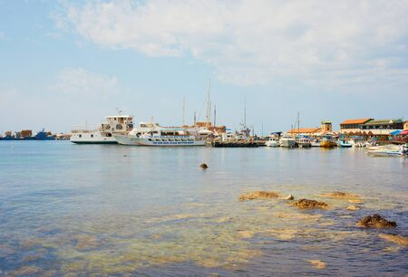 port in Paphos on a spring day Editorial