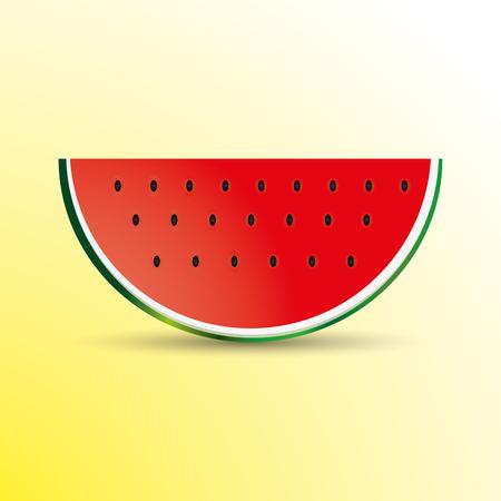 A Vector illustration of watermelon slice