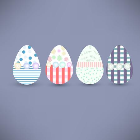 Easter eggs Vector illustration Illustration