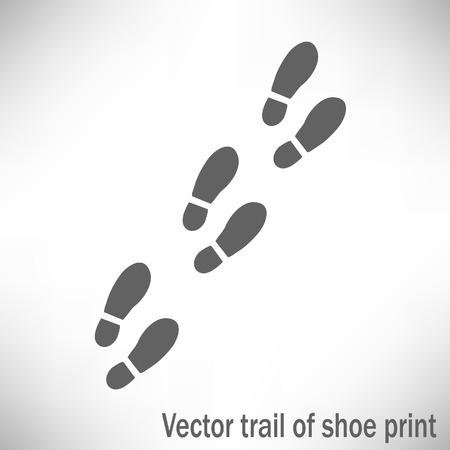 Trail od a sport shoes prints Illustration