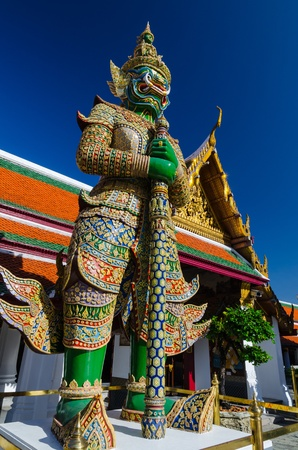Public Domain  Gaint Guardian at Wat Phra Kaew, Temple of the Emerald Buddha photo