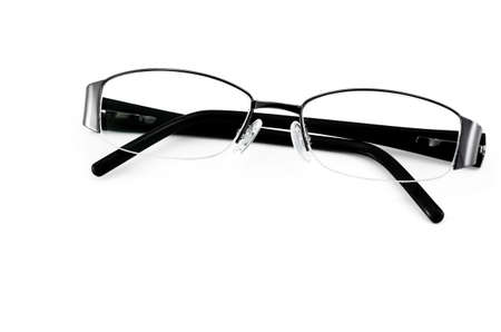 corrective: Front of black glasses on isolated background