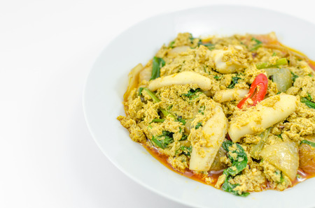 Stir Fried Squid with curry photo