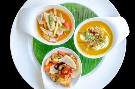 Three thai restaurant food photo