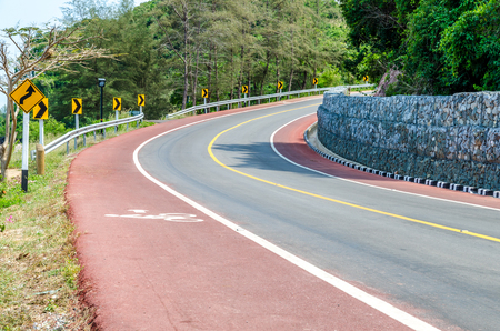 Great sea curve road in Thailand photo