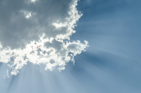 skylight: Puffy clouds and blue sky in sunny day Stock Photo