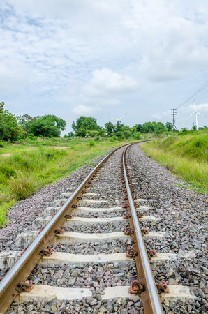 contryside: Railway in the Contryside of Thailand