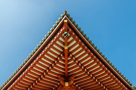 shinto: Shinto shrine or Japanese Temples roof, Japan