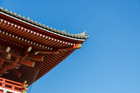 Shinto shrine or Japanese Temples roof, Japan