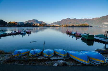 kawaguchi ko: Lake Kawaguchi at the sunrise, Kawaguchi-ko, Japan
